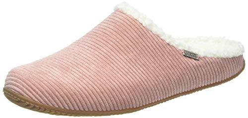 Living Kitzbühel Cordpantoffel Plüsch mit Fußbett Pantoffeln, Pink (Woodrose 0334), 36 EU