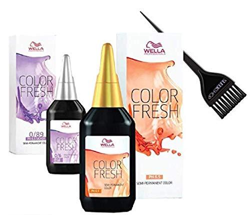 COLOR FRESH Semi-Permanent Hair Color Dye (w/Sleek Brush) NO DEVELOPER REQUIRED - Ammonia-Free and Peroxide-Free Haircolor (4/07 Medium brown/natural brown.)