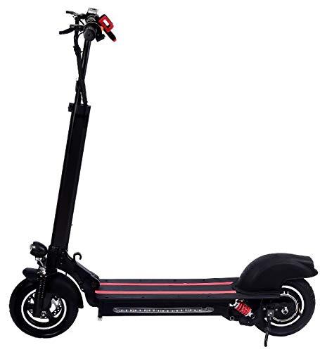 Elektroscooter Elektroroller Faltbarer Electric Scooter 10 Zoll, maximale Geschwindigkeit 40km/h und maximaler Ausdauer 35km, Klappbar City-Roller für Erwachsene, 600 Watt, Schwarz