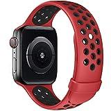 Fengyiyuda Correa de Compatible con Apple Watch 38mm 40mm 42mm 44mm, Correa de Silicona Suave de Repuesto Compatible IWatch Series6/SE/5/4/3/2/1