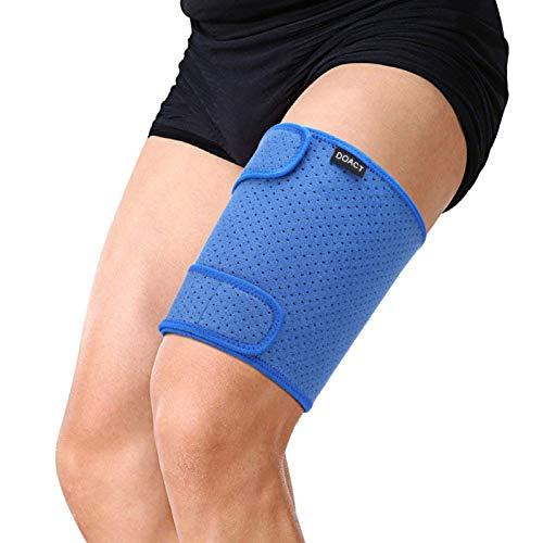 Soporte para muslos Soporte ajustable para muslos, envoltura de isquiotibiales para esguinces, distensiones Músculos tirados de cuádriceps, recuperación y rehabilitación de lesiones deportivas, correa