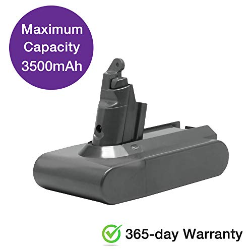 [365-day Warranty] GreenR3 3.5Ah Dyson V6 Replacement Battery 21.6V Upgraded Li-ion Battery 595 650 770 880 for DC58 DC59 DC61 DC62 Animal DC72 Series Handheld Dyson Replacement Battery