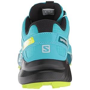 Salomon Women's Speedcross 4 W Trail Running Shoe, bluebird/acid lime/black, 6.5 B US
