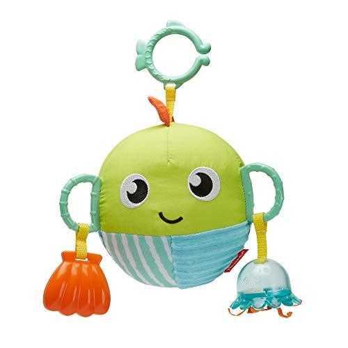 Fisher-Price Mon Poisson d'Activités jouet peluche bébé, dès la naissance, GFC36