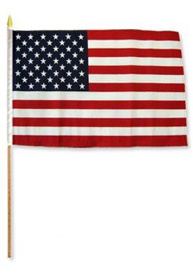 USA Stick Flags  One dozen stick flags  12quot x 18quot