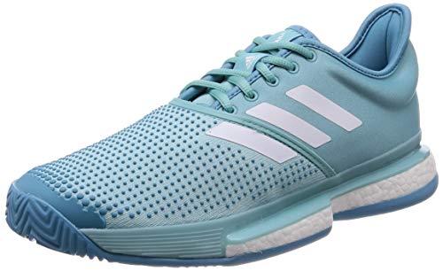 Adidas SoleCourt Boost M x Parley, Zapatillas de Tenis Hombre, Multicolor (Espazu/Ftwbla/Azuvap 000), 47 1/3 EU 🔥