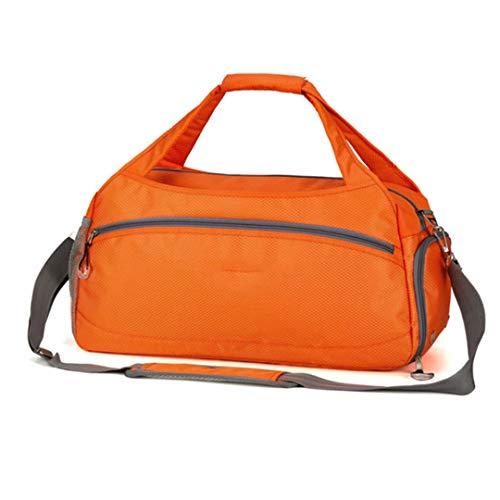 Large Capacity Waterproof Travel Bag with Luggage Multifunctional Fleece Travel Bags Large Shoulder Bag, Orange (Orange) - FTHB190803