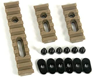 Fast Dealz Slotted Polymer Picatinny Rail Set for Handguards (Dark Earth)