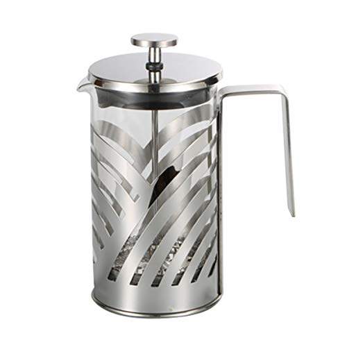 Greatangle-UK French Press Kaffeemaschine aus rostfreiem Stahl Isolierte Kaffeetee-Kaffeekanne Cafetiere Perkolator-Werkzeug mit Filterkörben