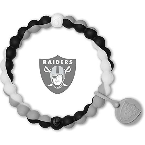 Lokai NFL Las Vegas Raiders Football Bracelet, Team Colors, Medium,...