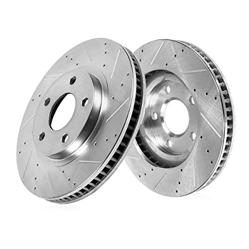 Callahan CDS05199 FRONT 311.8mm Drilled/Slotted 5 Lug [2] Rotors