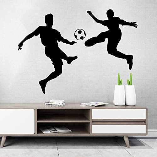 hetingyue Art voetbal, waterdicht, vinyl, zelfklevend, wanddecoratie, huisdecoratie