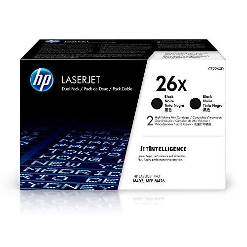 HP 26X (CF226XD) Multipack Original Toner (2x Schwarz) mit hoher Reichweite für HP Laserjet Pro M402, HP Laserjet Pro M426