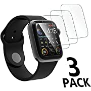 [3-Pack] Apple Watch Serie 4 44mm Screen Protector, [9H Hardness] [Anti-Scratches] [Anti-Fingerprint] Tempered Glass Screen Protector Film Compatible Watch Serie 4 44mm