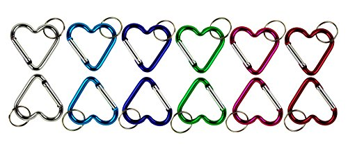 Lot of 12 Carabiners Heart Shaped A…