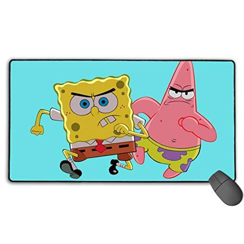 Großes Mauspad Spongebob und Pickstar Gaming Mauspad für Computer PC und Tastatur, 29,5 x 39,4 x 0,1 Zoll