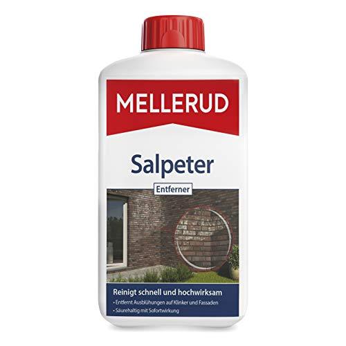 MELLERUD Salpeter Entferner – Zuverlässige Hilfe gegen Ausblühungen und hartnäckige Verschmutzungen auf Klinker und Fassaden – 1 x 1 l