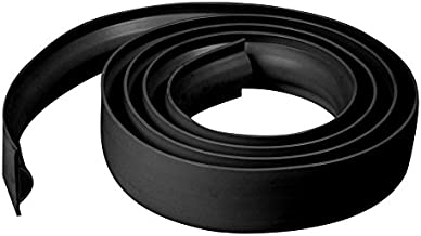 Dimex EasyFlex Plastic D-Profile Dock Edging Rub Rail for Boat Docks, 25-Feet, Black (5011B-25C)