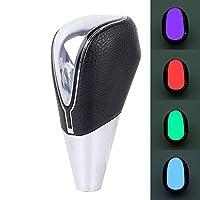 自動/手動 カラフルな車の呼吸レーシングダッシュLED魔法のランプヒョウ柄ギヤヘッドシフトノブ、サイズ:11.5 * 4.1 * 1.4センチメートル. (Color : Color1)