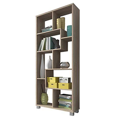 SelectionHome Estantería Multiposición, Librería para Salón o Oficina, Modelo Deluxe, Color Roble Claro, Medidas: 68,5 cm (Ancho) x 161 cm (Alto) x 25 cm (Fondo)