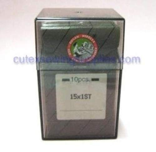 100 Large Eye Ball Point 15X1ST Flat Shank Embroidery Needles Same as 130/705H-E (11 BP (metric 75))