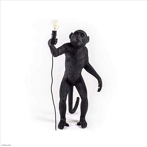 Betty Estatuas Lámpara de Resina Monkey Lamp-Outdoor 46X27.5 H.54 Cm - En pies - Selettl