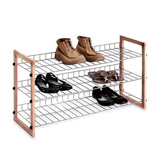 HYAN Zapatero 3 Niveles de Zapatos metálicos Estante de Zapatos Freestanding Zapato de Zapatos Estante de Almacenamiento Organizador para el vestíbulo de Entrada del vestíbulo Caja de Zapatos