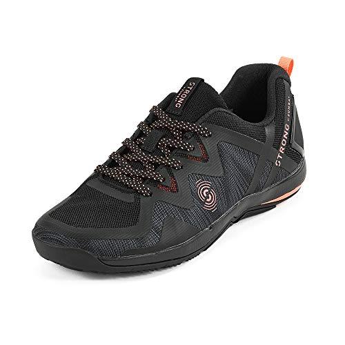 STRONG by Zumba Fly Fit Sneakers Donna da Allenamento con Supporto ad Alto Impatto Scarpe Running alla Moda, Black 0, 35.5 EU