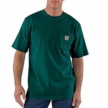 Carhartt Men s K87 Workwear Short Sleeve T-Shirt  Regular and Big & Tall Sizes  Hunter Green Large