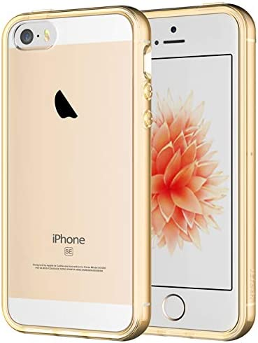 JETech Case for iPhone SE 2016 (Not for 2020), iPhone 5s and iPhone 5, Shockproof Bumper Cover, Anti-Scratch Clear Back, Crystal Clear