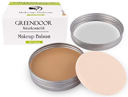 Greendoor Makeup Balsam Anti Aging 25g - Farbe: 004 caramel, pflegender CC Balsam, Kompakt Make-up Balsam nach Art einer CC Creme, Naturkosmetik