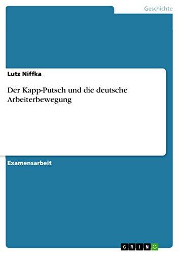 Der Kapp-Putsch und die deutsche Arbeiterbewegung