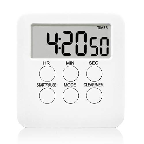 HANGOU Küchentimer Digitaler Magnetisch Küchen Timer Lauter Wecker LCD Bildschirm Professioneller Countdown-Timer für Küche