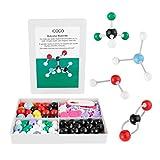 iCoco Molecular Model Kit Bioquímica química orgánica e inorgánica modelado estudiantes set para el aprendizaje (178piezas)