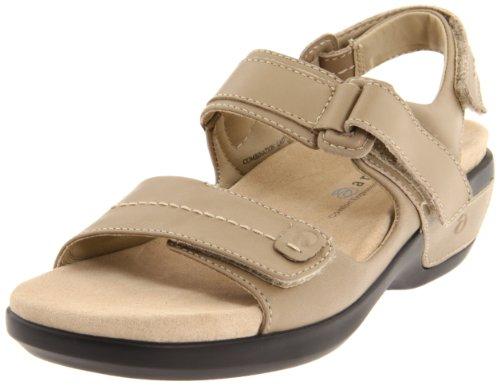 Aravon Women's WSK03TP Flat Sandals, Taupe Leather, 5