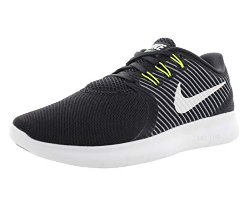 Nike Womens Free RN CMTR Low Top Lace Up Running Sneaker, Black, Size 6.5