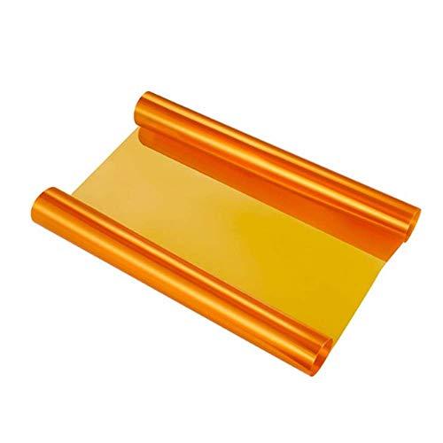 VOYAGO Scheinwerfer-Folie Gelb 30 * 120cm, Wasserdicht Auto Scheinwerfer Folie Tönungsfolie Nebelscheinwerfer (Orange)