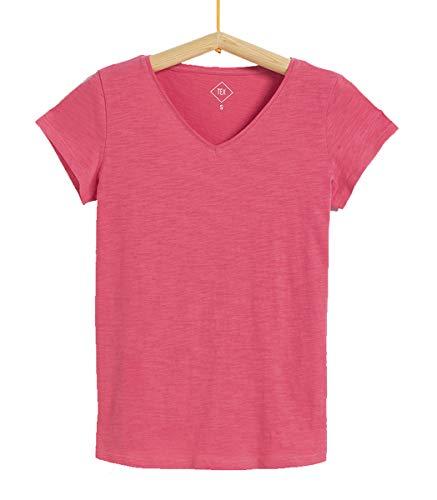 Tex - Camiseta Lisa para Mujer, Fucsia, M