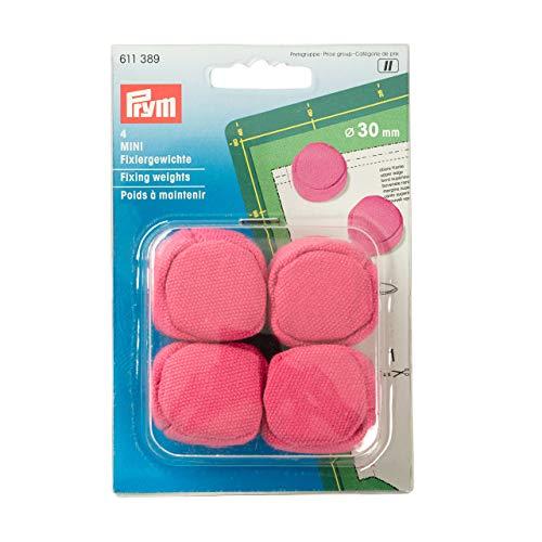 Prym 611389 Fixiergewichte MINI 30 mm pink, Baumwolle