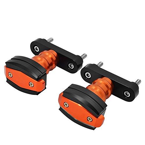 Topes antideslizantes a izquierda y derecha protectores contra golpes y caídas para moto, de aluminio CNC, de BJ Global; 2 unidades