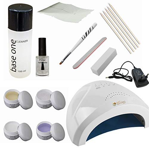 Nagelstudio Starterset KLEIN - UV Gel Starter Set für Gelnägel – Nail Profi Kit mit UV Gerät und Zubehör