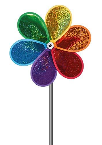 Paul Günther 1305 - Farbenfrohes Windspiel Glitter Bloom, ca. 30 x 55 cm groß, als Dekoration für Garten, Terrasse und Balkon, wetterfest und lichtbeständig