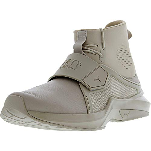PUMA Women's Fenty x High Top Trainer Sneakers, Sesame, 8.5 B(M) US