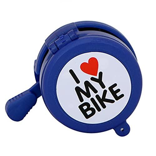 自転車のベル 自転車の鐘の子供の自転車子供の自転車の鐘を鳴らしている鏡のある車の鐘 警報自転車ベル (色 : 青, Size : 7X6cm)