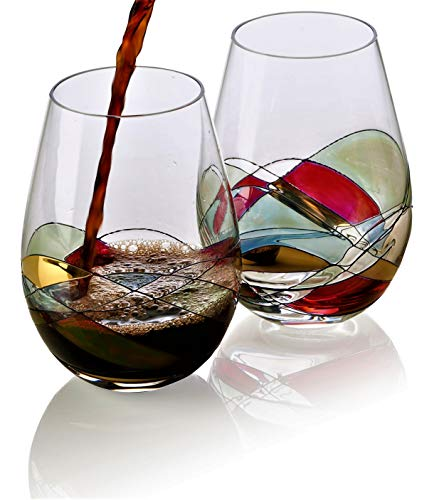 Bezrat Stemless Wine Glasses Set Of Two Buy Online In Gibraltar At Desertcart