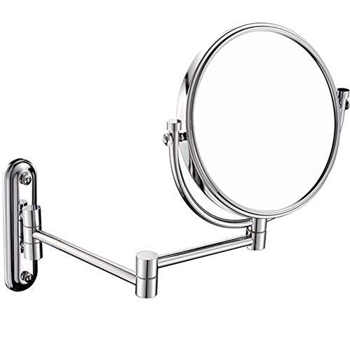 SAD Grande Pared Extensión Espejo 8 Pulgadas para maquillarse Doble Lado Aumento Rotación 360 Grados Baño Habitación Ouoy