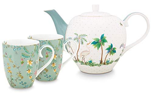PiP Studio Set/3 Tea Set Large Jolie Flowers Blue
