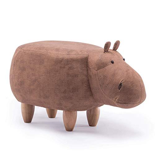 DaPengNB Kreative Karikatur Khaki Hippo Schuhe Bank Sofa Bench Wohnzimmer Cartoon Massivholz-Hocker Test-Schuhe Hocker