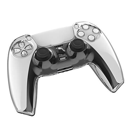 Controller Schutzhülle Kompatibel mit PS5 Transparente Hülle Playstation 5 Cover Skins Anti-Rutsch Clear Shell