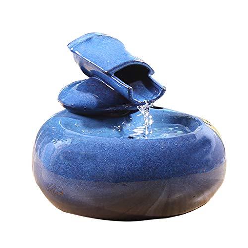 QIjinlook Katzen Trinkbrunnen Automatischer mit Super Ruhiger Pumpe und Austauschbarem Filter, Super Leise Automatischer Elektrischer Wasserspender für Katzen und Hunde (blau)